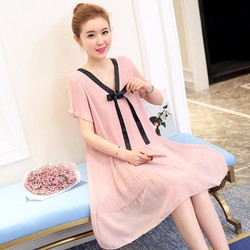 Đầm suông xếp li nhập khẩu 1D6883