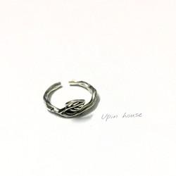 Nhẫn lá bạc 925