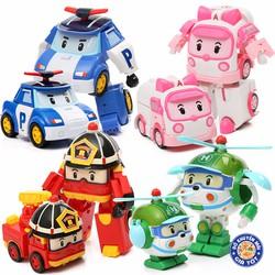 Bộ 4 xe Robocar Poli Hoạt Hình cho bé
