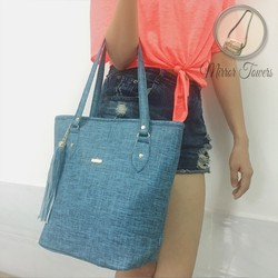 Túi xách màu xanh thời trang giá rẻ, họa tiết lại cực hợp thời trang