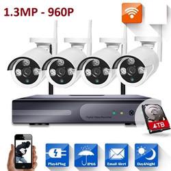 Camera kit wifi 4 mắt 1.3MP 960P