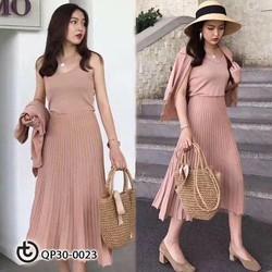 Set váy xếp li - Hàng cao cấp Quảng Châu