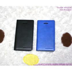 Bao da iphone 5 bật ngang đơn giản sang trọng