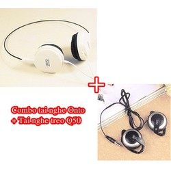 Combo 2 Tai nghe Q50 và Onto Kiểu Dáng Hàn Quốc
