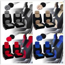 Áo trùm ghế ô tô thể thao vải cao cấp polyester mát bộ 2 cái