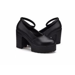 Giày cao gót đế vuông quai cổ siêu nhẹ