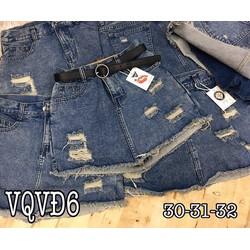 Quần váy jean rách bụi 30-32