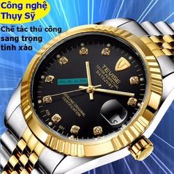 Đồng hồ lộ máy cơ Cao Cấp mạ PVD Vàng kính Sapphire Thụy Sĩ