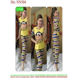 Đồ bộ mặc nhà dài tay hình chú khỉ ngộ nghĩn NN504