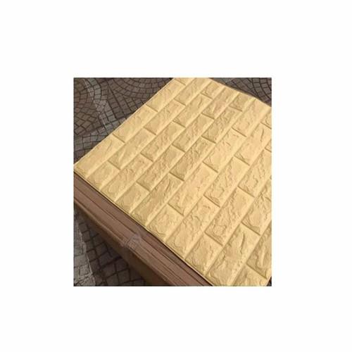 Xốp đá dán tường màu vàng nhạt BINBIN XD09