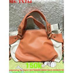 Túi xách nữ da ghép màu sành điệu và thời trang TXT64