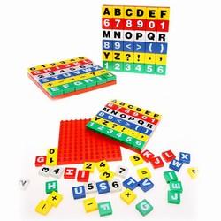 Bộ xếp hình chữ cái, học toán 72 mảnh ghép sắc màu vui nhộn cho bé