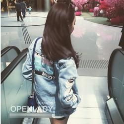 áo khoác jeans rách my mind Mã: AO3148