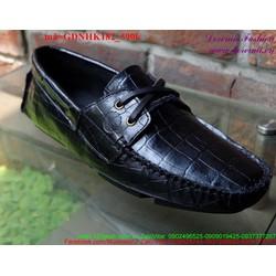 Giày da nam công sở da cá sấu cột dây sang trọng