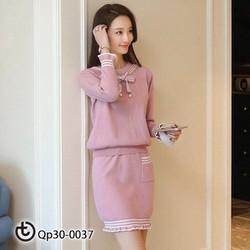 set váy len chân bèo - hàng cao cấp Quảng Châu
