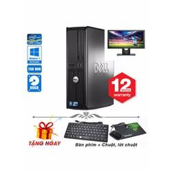 Máy tính để bàn Dell  780 SFF Core 2 Duo E8400, Ram 2GB, HDD 80GB