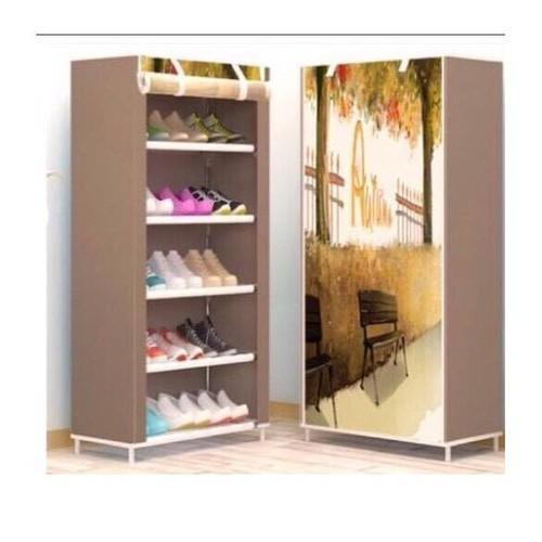 Kệ giày tủ vải in họa tiết 3D