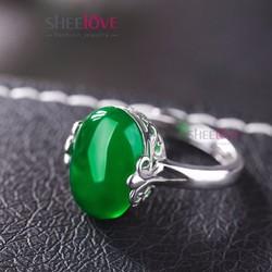 Nhẫn nữ đính đá phong cách quý phái cổ điển sang trọng SPR-YWY094