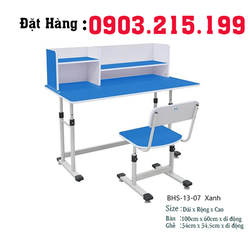 Bộ bàn ghế học sinh BHS-13-07-XG màu xanh chính hãng giá tốt