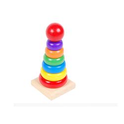 Tháp cầu vồng gỗ - Món đồ chơi không thể thiếu cho bé