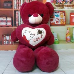 Thú bông gấu bông ôm tim gấu pooh love 90cm