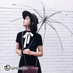 Set váy Len chân váy xoè áo nơ - hàng cao cấp Quảng Châu