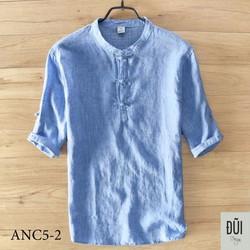 Áo đũi nam chui cúc tết xanh M5
