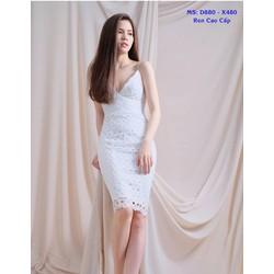 Đầm Ren Body 2 Dây Cao Cấp