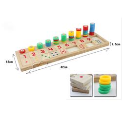 Bảng số Montessori gỗ - đồ chơi giáo dục - đồ chơi toán học cho bé