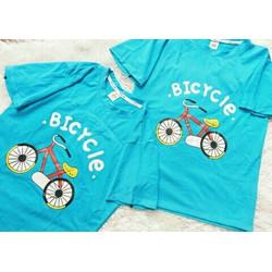 áo thun xe đạp xanh