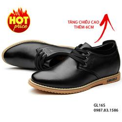Giày Da Tăng Chiều Cao Nam Cao Cấp - Kiểu Dáng Hiện Đại