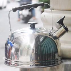 Ấm reo từ đáy inox 4L cao cấp dành cho tất cả các loại bếp