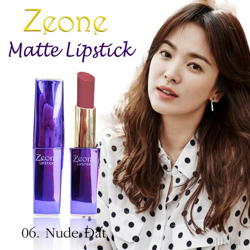 Son ZEONE Tím - ZEONE Matte Lipstick - Màu 06 Nude Đất 1