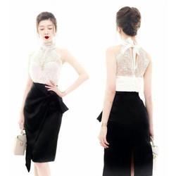 HÀNG THIẾT KẾ-bộ váy áo rời đẹpthiết kế ôm body trẻ trung