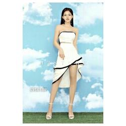Set áo cúp ngực và chân váy bèo tầng H2