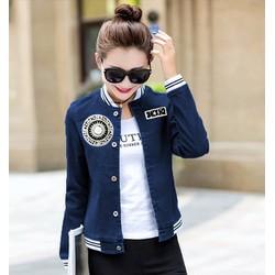 Áo khoác jean đắp logo