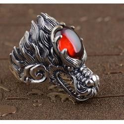 Nhẫn inox nam kiểu đầu rồng - N584