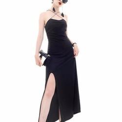 Đầm dạ hội dây chéo xẻ đùi siêu sang