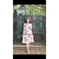 Sét áo dài chân váy kèm mấn in 3D TVAD284