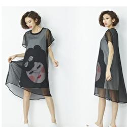 Đầm Suông Cô Gái Hàng Nhập D61