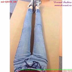 Quần Jean lưng thun trẻ trung năng động QD330