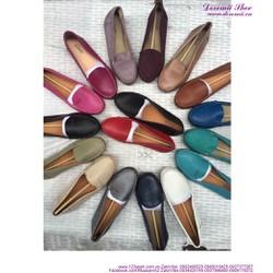 Giày mọi da nữ công sở Clark bền đẹp sang trọng