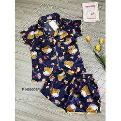 Set bộ phi gấu quần short hàng thiết kế! MS: S140924 Gs: 105k