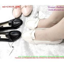 Giày mọi nữ đính nơ xinh xắn nữ tính