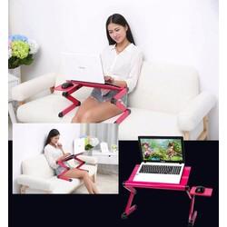 Bàn xoay laptop đa năng T8 có quạt tản nhiệt