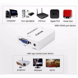 Đầu chuyển tín hiệu Mini HDMI to VGA