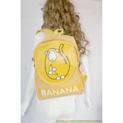 Balo Banana vàng - chú khỉ ăn chuối dễ thương