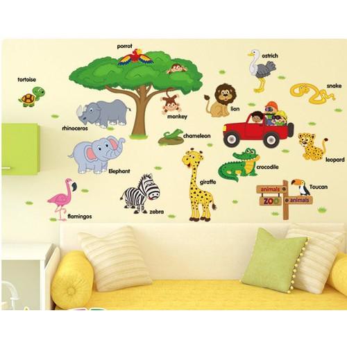 Decal dán tường vườn thú châu phi cho bé - 13229958 , 6980590 , 15_6980590 , 75000 , Decal-dan-tuong-vuon-thu-chau-phi-cho-be-15_6980590 , sendo.vn , Decal dán tường vườn thú châu phi cho bé