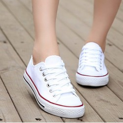 Giày CV Màu Trắng Cổ Thấp Nữ