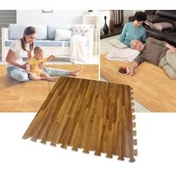 Thảm xốp vân gỗ lót sàn 9 tấm ghép